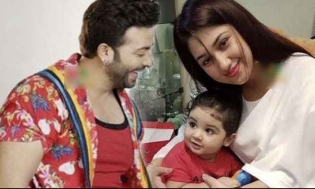 Actor Shakib khan and her ex-wife Apu islam khan with son