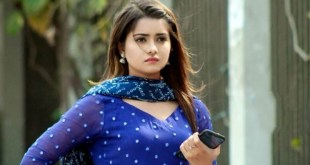 Actress Tanjin Tisha photos in blue dress