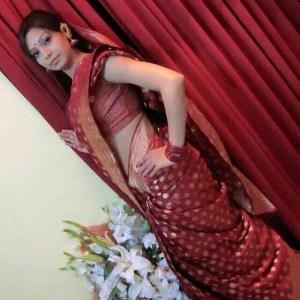 Prova in red saree