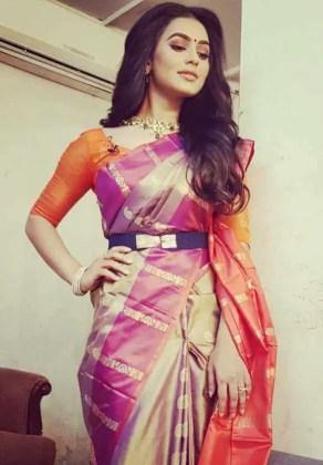 Nuarat Faria Saree Picture