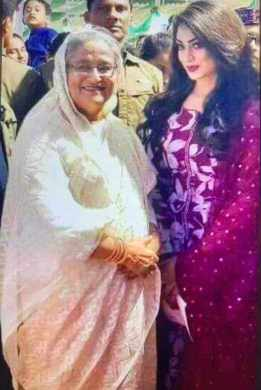Sadika Parvin Popy with Sheikh Hasina