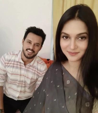 Mithila with co-actor Irfan Sajjad