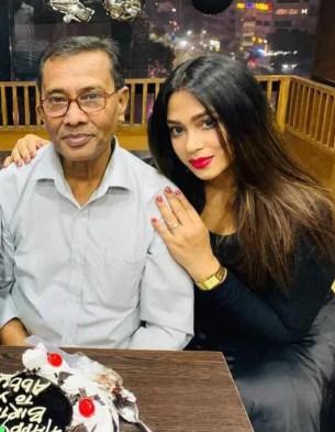 Sadika Parvin Popy with her father