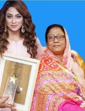 Sadika Parvin Popy with her mother