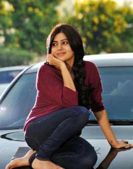Samanta Akkineni with car photo