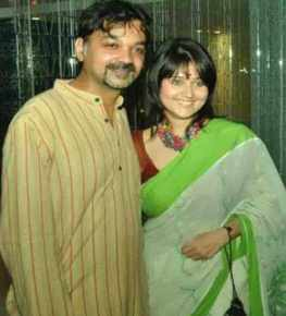 Srijit Mukherjee with Swastika Mukherjee