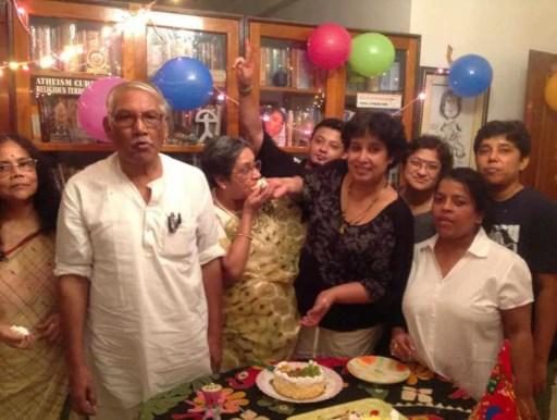 Taslima Nasrin with her family Photo