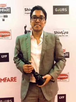 Anupam Roy with Award Photo