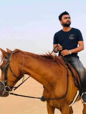 Imran Mahmudul with Horse
