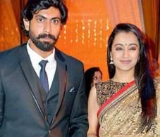 Trisha Krishnan with Rana Daggubati