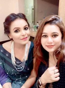 Meher Afroz Shaon with Abeeda Rahman Rumky