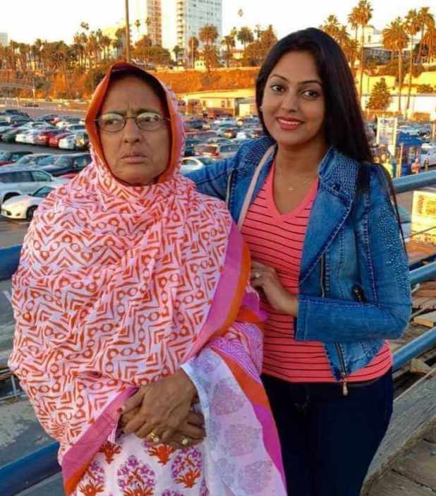 Nipun Akter with her Mother