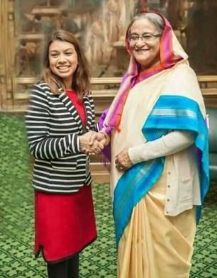 Tulip Siddiq With Sheikh Hasina