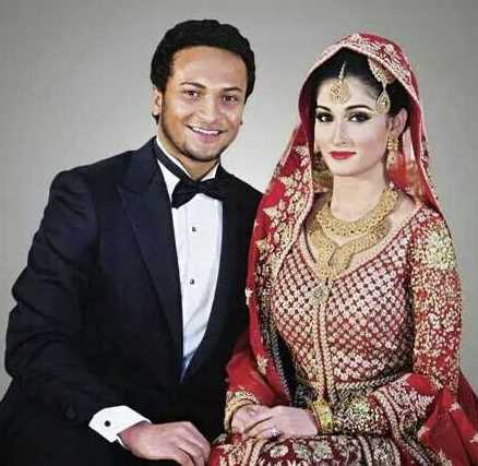 Shakib Al Hasan and Umme Ahmed Shishir marriage photo