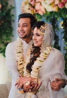 Mumtaheena Toya with Sayed Zaman Shawon Wedding Picture