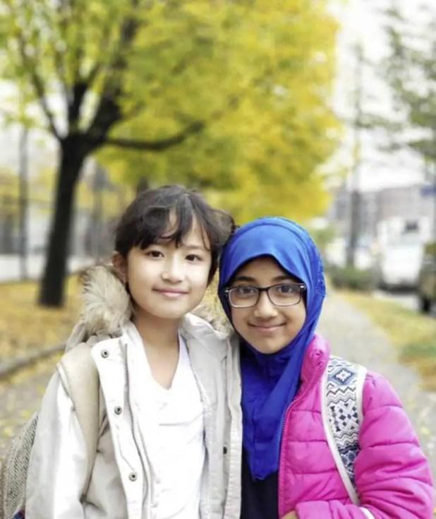 Fateeha Ayat with friend photo