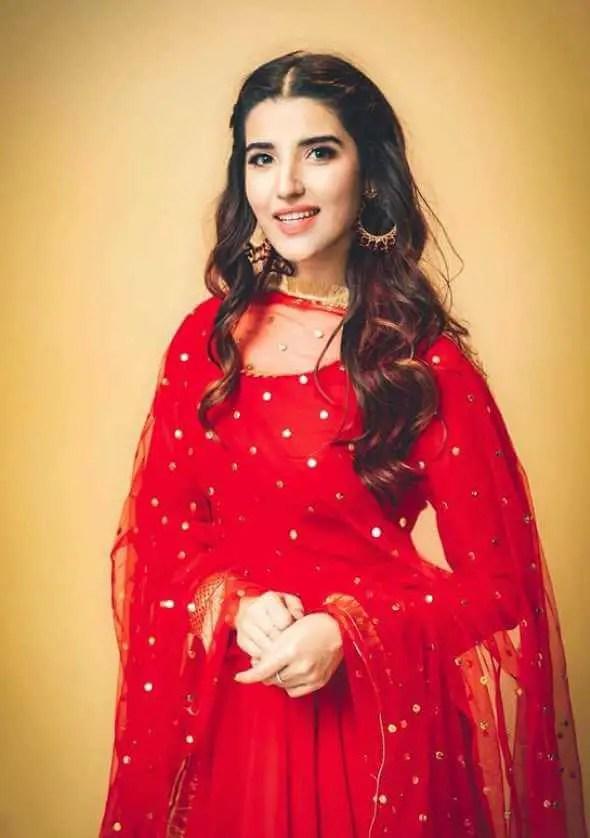 Hareem Farooq Red dress Image