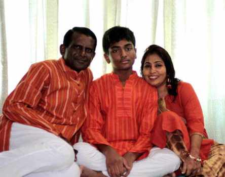 Hasan Masood with his Family Photo