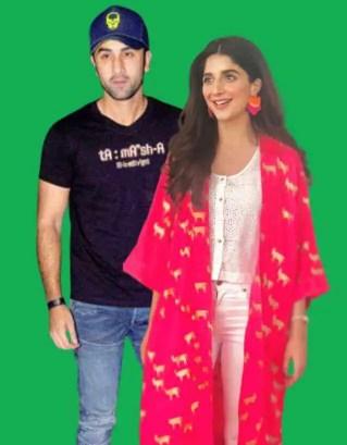 Mawra Hocane with Ranbir Kapoor