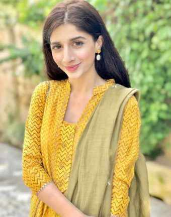 Mawra Hocane with yellow Dress Photo