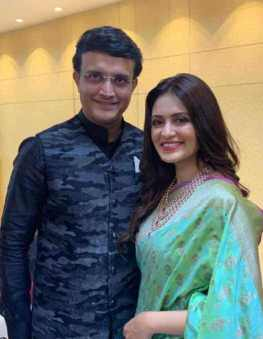 Priyanka Sarkar with Sourav Ganguly