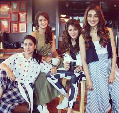 Priyanka Sarkar with Nusrat Jahan, Sohini Sarkar, & Mim