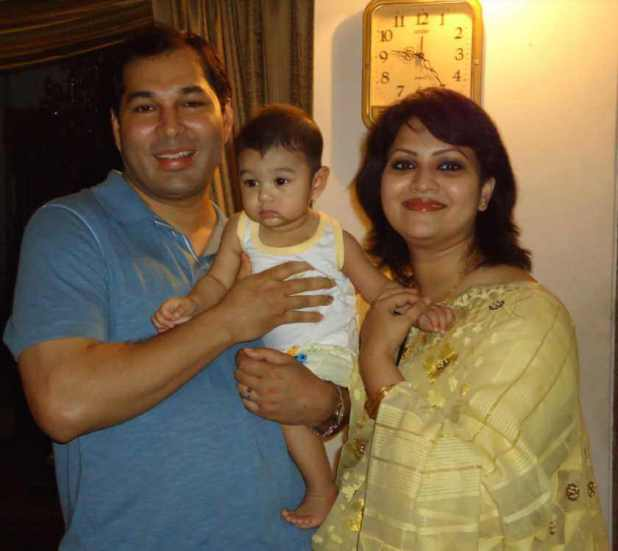 Richi Solaiman with her Husband & Son