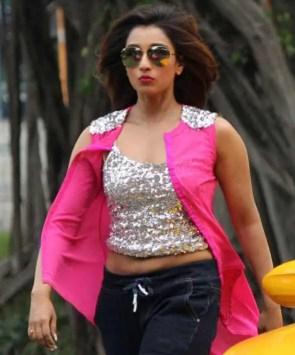 Sayantika Banarjee Pink color dress