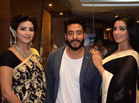 Sayantika Banarjee with Subhashree & Raj Chakraborty