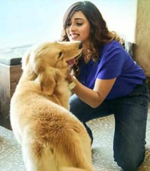Sayantika Banarjee with her Dog