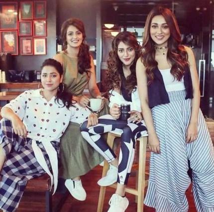Sohini Sarkar with Nusrat Jahan and co-artist
