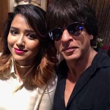 Sohini Sarkar with Shahrukh Khan