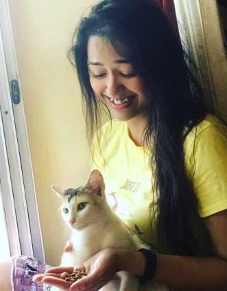 Sohini Sarkar with her Cat