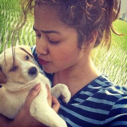 Sohini Sarkar with with her Dog