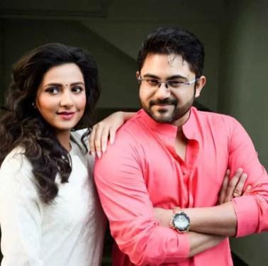 Subhashree Ganguly with Soham Chakraborty