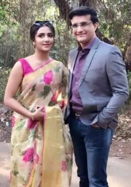Subhashree Ganguly with Sourav Ganguly