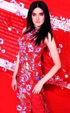 Zara Sheikh with Red Color Dress