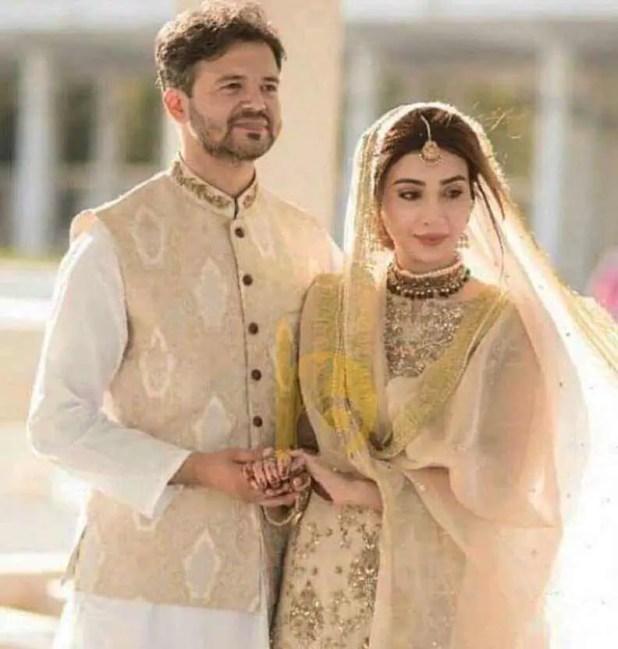Ayesha Khan with her Husband