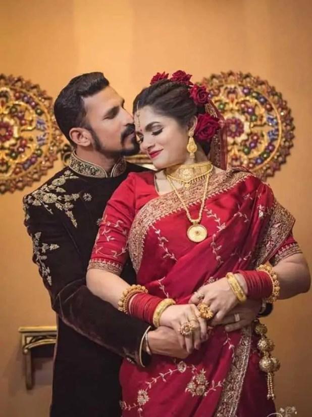 Cricketer Nasir Hossain and Tamima Tammi wedding photo