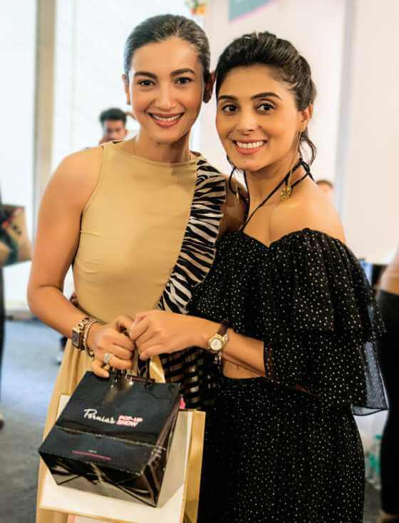Pernia Qureshi with Gauahar Khan