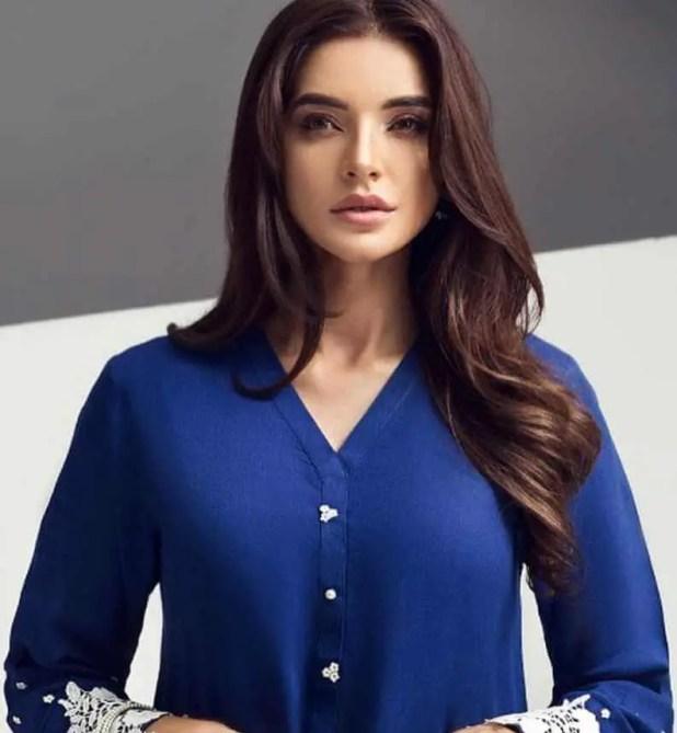Sadia Khan Blue Dress Image