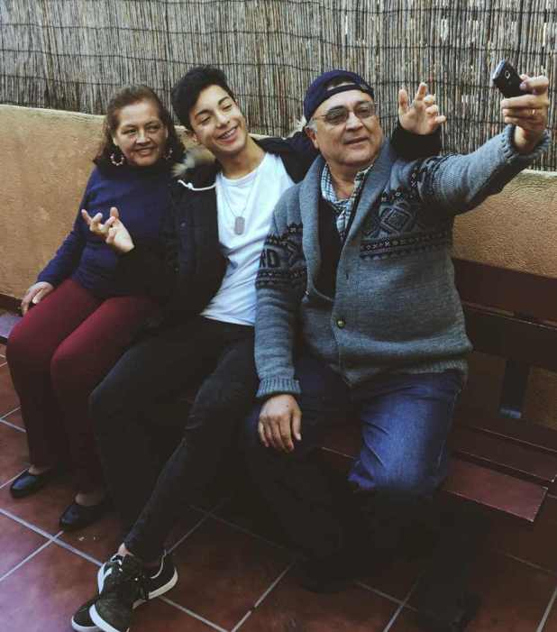 Naim Darrechi with his Parents Photo