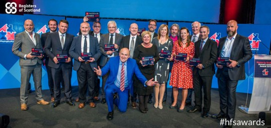 Winners at this year's Homes for Scotland awards