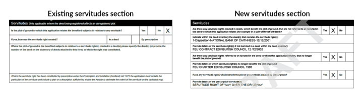 servitudes sections