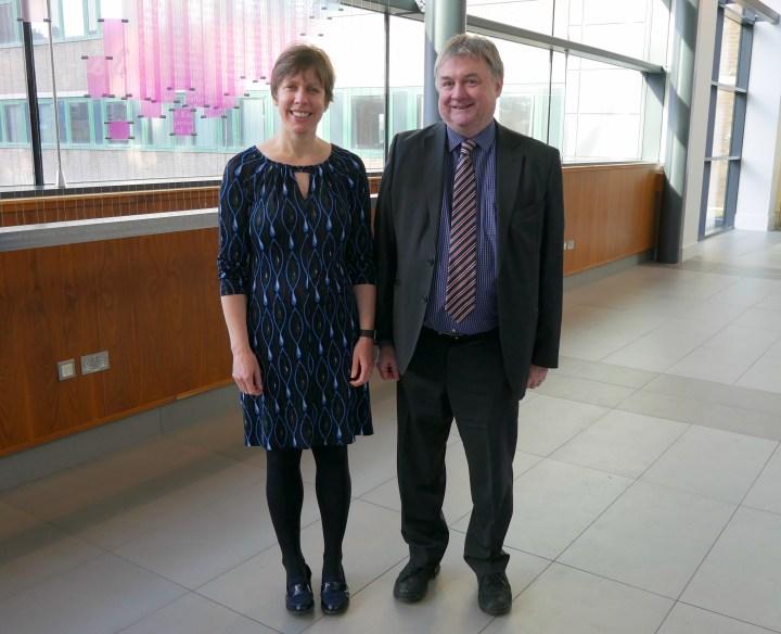 Jennifer Henderson with Paul Lowe