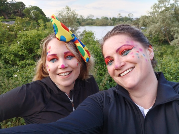 Selfie of Lyndsey and Fiona during the moonwalk