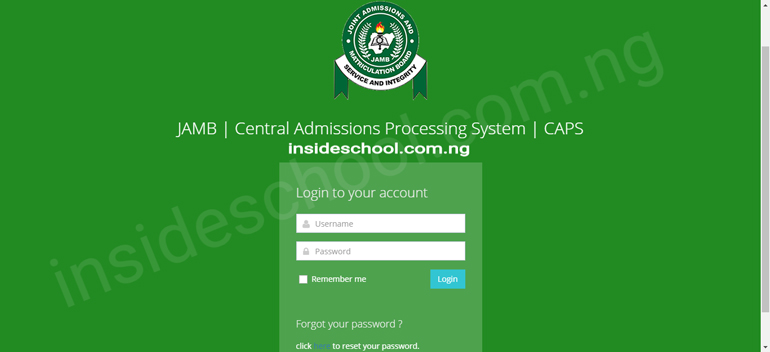 JAMB CAP - How To Check JAMB Admission Status Online