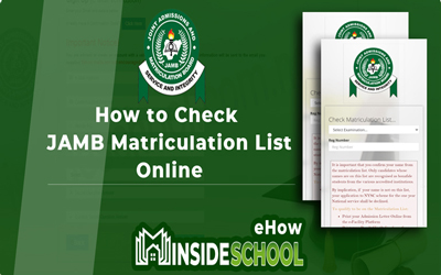JAMB Matriculation List Portal For NYSC Mobilization
