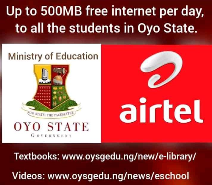 FB IMG 15860325574353121 712x620 1 - Covid-19 : Oyo State Government to give free 500 megabytes daily internet for students
