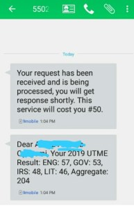 check jamb result via sms Insideschool 193x300 - How to Check 2020 JAMB Result.